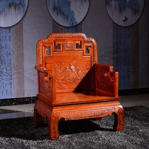 东阳红木家具缅甸花梨木国色天香沙发大果紫檀沙发