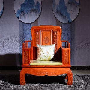 东阳明泽红木缅甸花梨木软体沙发大果紫檀沙发