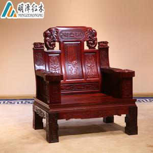 红木沙发老挝红酸枝象头沙发组合仿古实木客厅家具巴里黄檀11件套